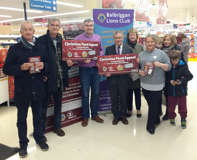 Lions Club Vincent de Paul Tesco Christmas Food Appeal 2016