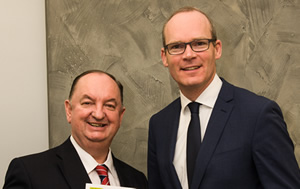 cllr_oleary_and_Minister Simon Coveney