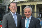 Alan Farrell TD with Minister Bruton smaller