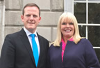 Alan Farrell TD with Minister Mary Mitchell O'Connor smaller