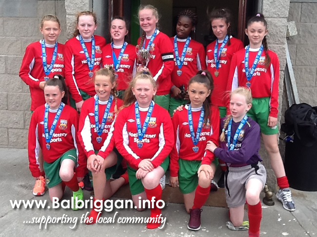 Balbriggan F.C. U13 Girls Crowed League Winners_27jun17