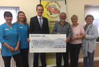 Adrian Dunne Pharmacy present cheque to Balbriggan Meals on Wheels 17aug17_smaller