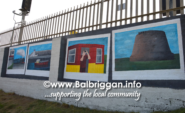 Lauryn''s postcard views of Balbriggan include the iconic harbour, martello tower, railway station and a contemporary image of a lifeguard watching over Balbriggan beach.