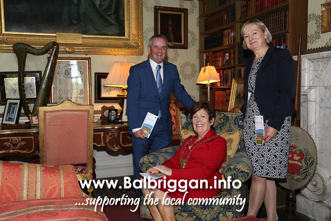Library room Newbridge House, Paul Reid CE of Fingal Mayor of Fingal Mary McCamley, County Librarian Betty Boardman,