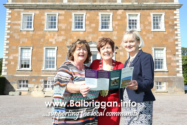 Manager of Newbridge House Ann Brophy,  Mayor of Fingal Mary McCamley, County Librarian Betty Boardman