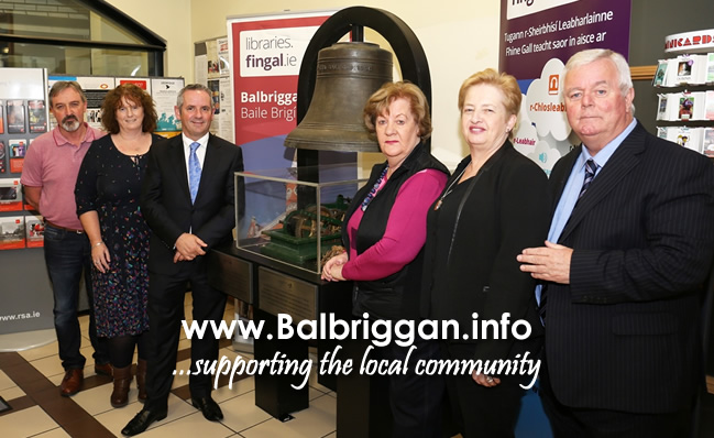 Members of the Balbriggan and District Historical Society and Paul Reid, Chief Executive Fingal County Council