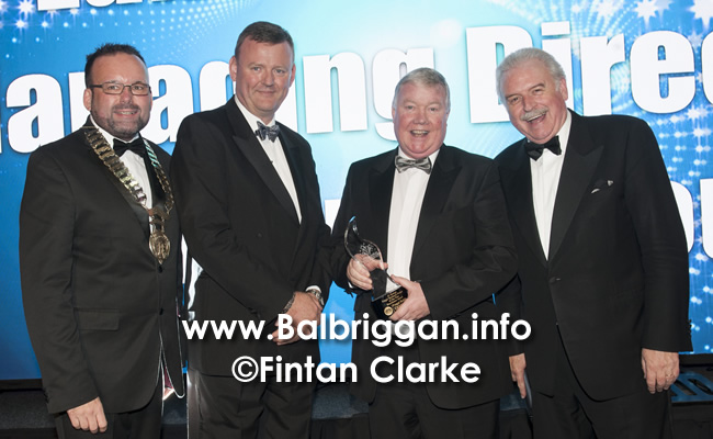 Fingal Chamber president Guy Thompson, Dublin Airport General Manager of Operations Brian Drain, Moriarty Group Managing Director Luke Moriarty and MC for the evening Marty Whelan