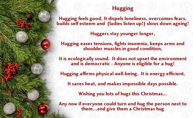Balscadden Choir Carol service 17dec17_hugging poem
