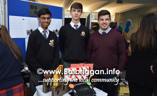 Students from Le Chéile Secondary School at the Fingal Youth Enterprise Market
