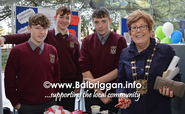 Blakestown Community School students with Mayor of Fingal Cllr Mary McCamley