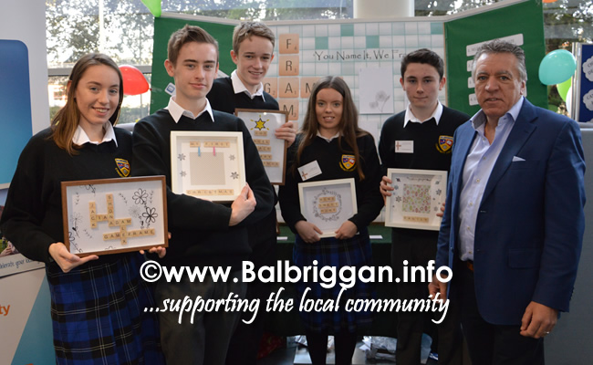 Students from Balbriggan Community College and Cllr Tony Murphy