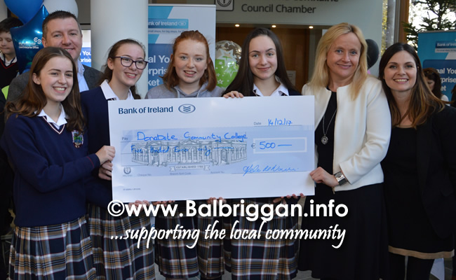 Students from Donabate Community College and Laura Henry and Helen McNamara
