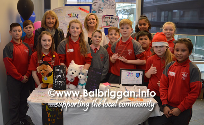 Students from St Francis Xavier Junior National School in Blanchardstown at the Fingal Youth Enterprise Market