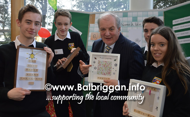 Students from Balbriggan Community College and Gavin Duffy