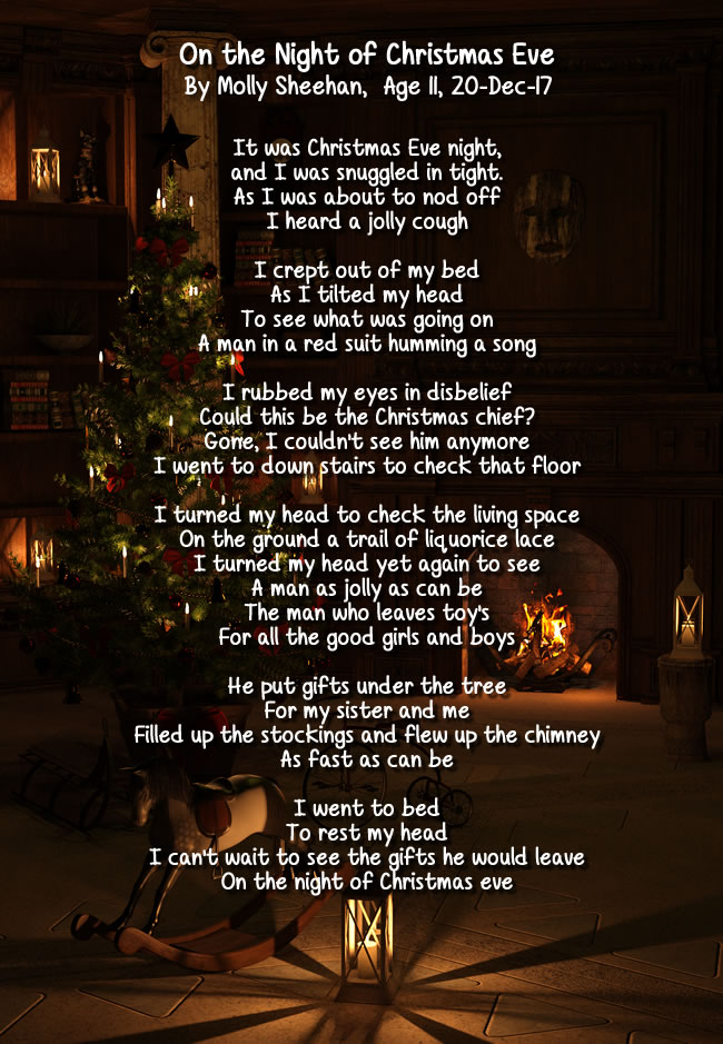 On the Night of Christmas Eve, a poem by Molly Sheehan age 11 ...