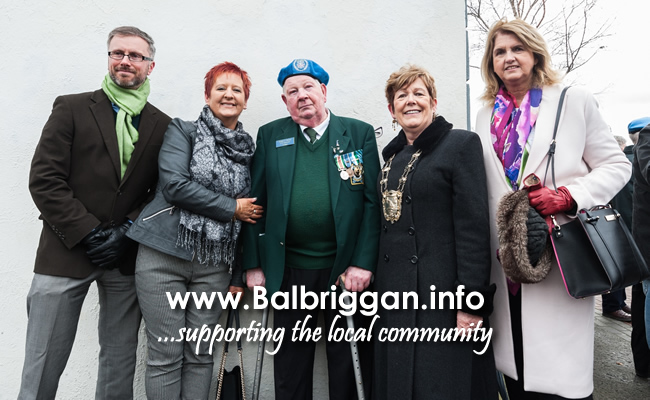 Cllr Roderic O'Gorman, Cllr Tania Doyle, Pte. Thomas Kenny, Survivor of Niemba Ambush, Mayor of Fingal Cllr Mary McCamley, Joan Kenny T.D.