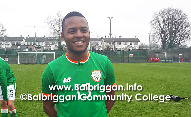 Balbriggan Community College Teacher and Student Double Football success apr18