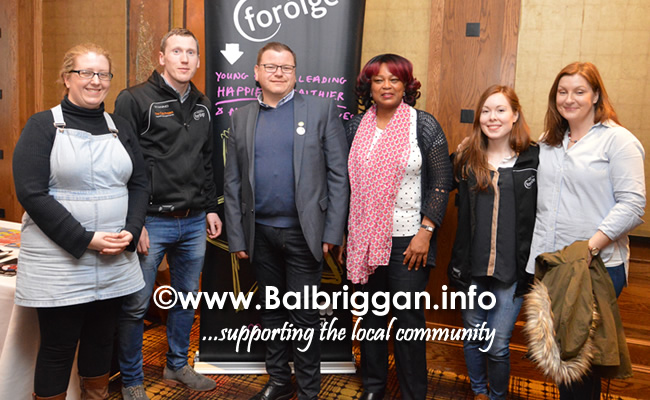 Leaders from Foroige Balbriggan and Cllr Malachy Quinn