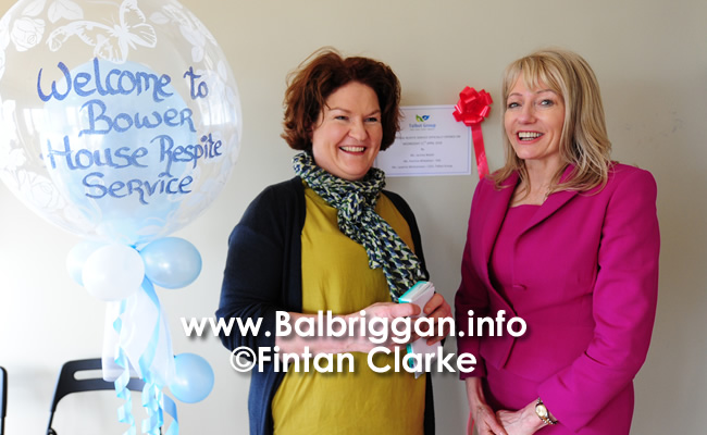 Jacinta Walsh and Talbot Group CEO Laverne McGuinness at the opening of its Adult Respite Service, Bower House in Balbriggan