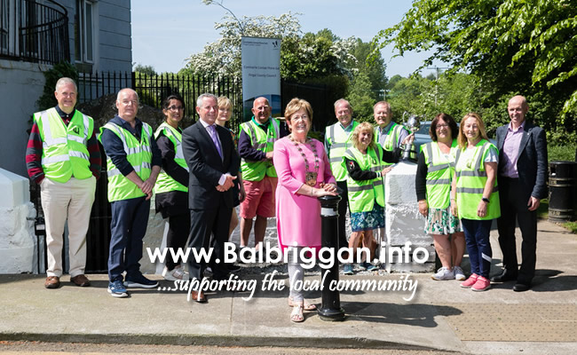 Georgy Hughes, Noel Cosgrave, Teresa Cosgrave, Dymphna Cassidy, Ken Duffy, Mayor of Fingal Mary McCamley, Eric Duffy, Chief Executive of Fingal County of Fingal County Council Paul Reid, Matt Cullen, George Mongey and Sandra Sweetman at the Cleaner Communities launch.