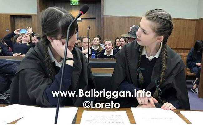 Loreto Balbriggan students earn their place in 2018 Mock Trial semi-final 09may18