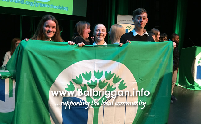 balbriggan community college awarded their first green flag 22may18