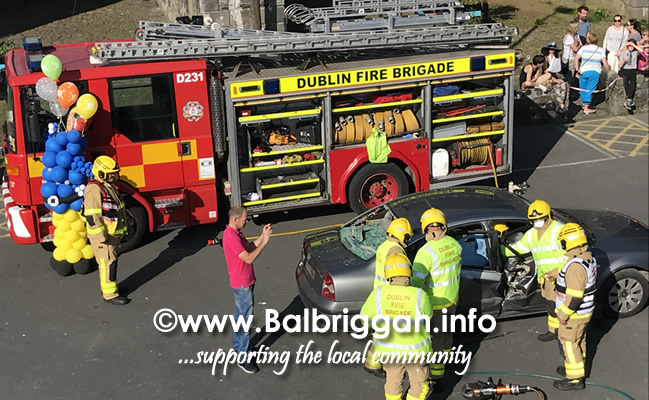 balbriggan fire brigade car crash demonstration 02jun18