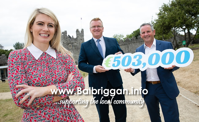 Sarah Jane Brangam, Piranha Beverages T/A Cult Drinks who received a Business Expansion Grant, Oisin Geoghegan, Head of Enterprise, Fingal and Chief Executive of Fingal County Council Paul Reid.