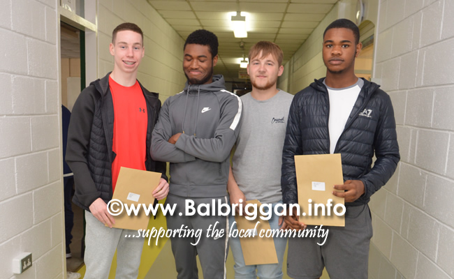 Balbriggan Community college students receive their leaving cert results 15aug18