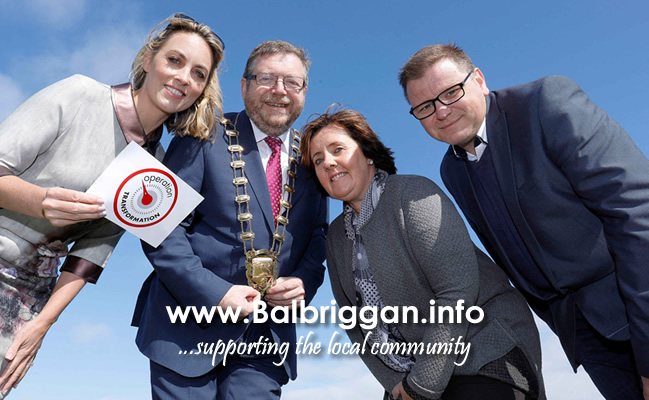 Presenter Kathryn Thomas, Mayor of Fingal Cllr Anthony Lavin, Cllr Grainne Maguire and Cllr Malachy Quinn