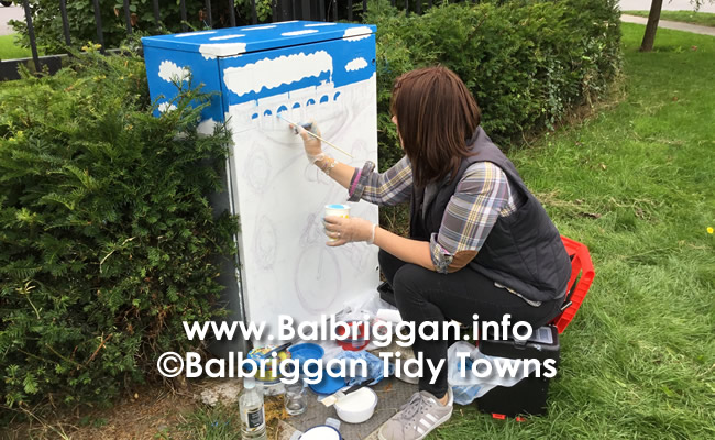 "Alison O'Grady at work on ""Balbriggan Flyers"""