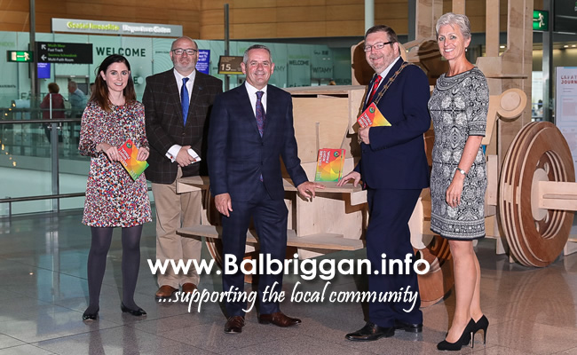 Fingal County Council Deputy Arts Officer, Sarah O'Neill, Dublin Airport Chief Communications Officer, Paul O'Kane, Mayor of Fingal, Cllr. Anthony Lavin, Chief Executive of Fingal County Council, Paul Reid and Siobhán O'Donnell, Head of External Communications at Dublin Airport