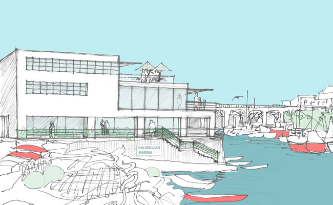 Our Balbriggan - Proposed Harbour view