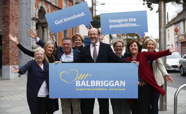 Balbriggan Leadership Group Chairman Professor Brian MacCraith with some of the group members (l-r) Alice Davis, Nikki Halleran, Cllr Tony Murphy, Fionnuala May, Dr Fionnuala Anderson, Cllr Gráinne Maguire and Adeline O'Brien.