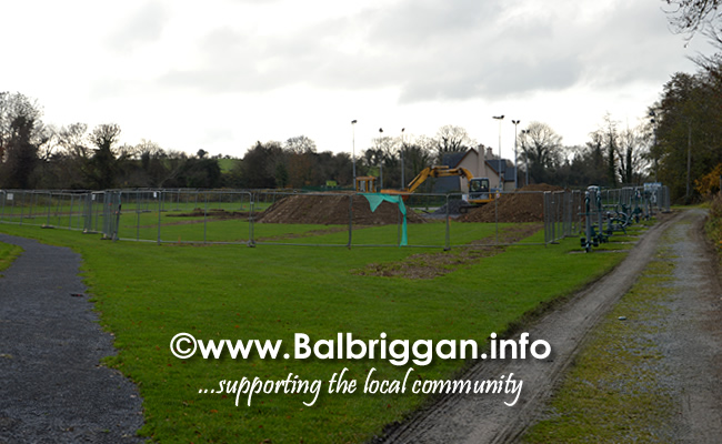 Works begin on Playground and Multi Use Games Arena in Glebe Park Balrothery 18-Nov-18 5
