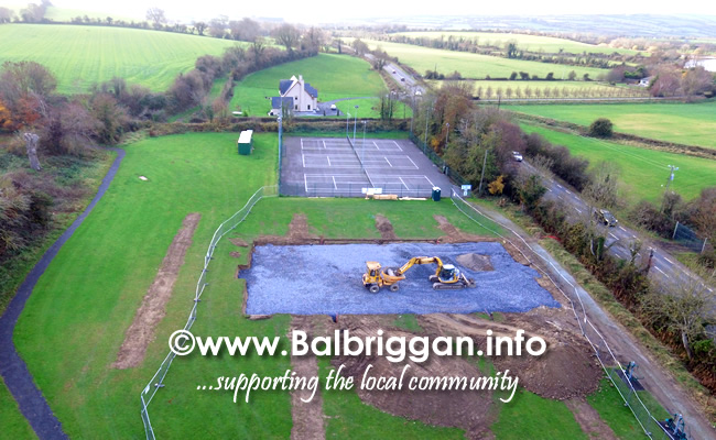 Works begin on Playground and Multi Use Games Arena in Glebe Park Balrothery 18-Nov-18 7