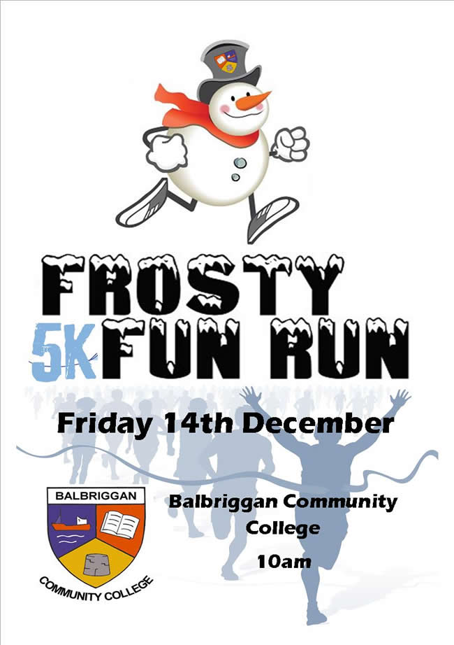 balbriggan community college frosty walk2018