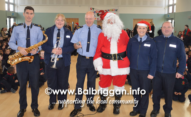 Garda Band & Community Gardai visit to 3 Balbriggan Schools 20dec18