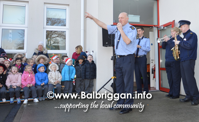 Garda Band & Community Gardai visit to 3 Balbriggan Schools 20dec18_