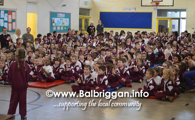 Garda Band & Community Gardai visit to 3 Balbriggan Schools 20dec18_13