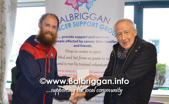 Balbriggan cancer support group 10k half marathon 17mar19 presentation 1