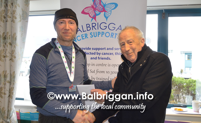 Balbriggan cancer support group 10k half marathon 17mar19 presentation 3