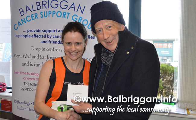 Balbriggan cancer support group 10k half marathon 17mar19 presentation 6