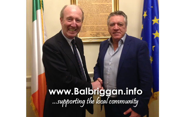 Minister for Transport, Tourism and Sport Shane Ross and Cllr Tony Murphy