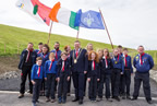 Mayor of Fingal, Cllr Anthony Lavin with the Rush 38th Scout Unit smaller