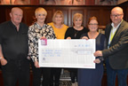 ace charity fundraising balbriggan present cheque to LauraLynn apr19 smaller