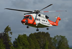 Irish Coast Guard helicopter visits Balscadden National school 27may19 smallest
