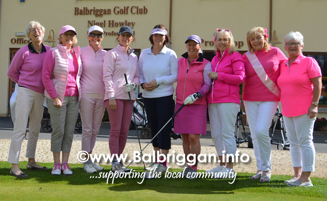 Pink Day in aid of Breast Cancer Research Ireland at Balbriggan Golf Club 28-May-19