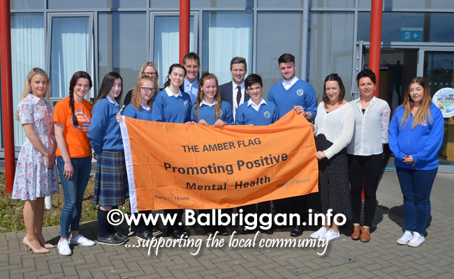 ardgillan community college awarded an amber flag 21may19