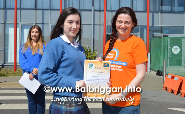 ardgillan community college awarded an amber flag 21may19_4